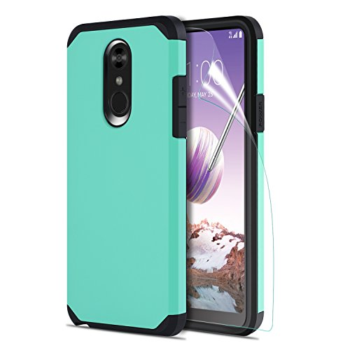 LG Stylo 4 Phone Case with HD Screen Protector, LG Stylo 4 Plus Case, OEAGO Hybrid Shockproof Drop Protection Impact Rugged Heavy Duty Dual Layer Armor Cover for LG Stylo4 / LG Stylo4 Plus - Mint