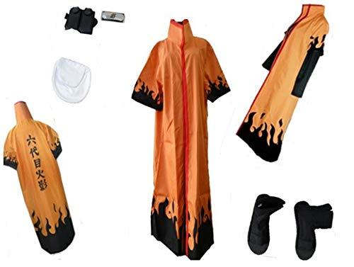 Mister Bear Naruto Sixth Hokage Naruto Uzumaki Cosplay Costume