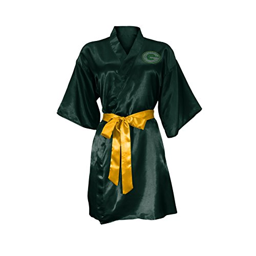 NFL Green Bay Packers Satin Kimono, Large/XL (Green Bay Packers Robe)