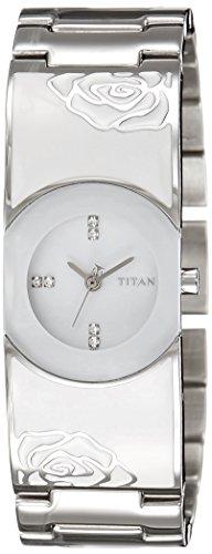 Titan Purple Analog White Dial Women's Watch - 9818SM01