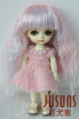 JD402 5-6inch 13-15CM Highligh Fairly Sobazu BJD wigs 1/8 Lati yelow synthetic mohair Doll -