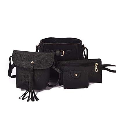 Mositto 4pcs Womens Bags and Purses, Fashion Handbags Tote Bag Shoulder Bag Top Handle Satchel Purse Set