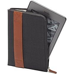 Amazon Kindle Zip Sleeve, Charcoal (fits Kindle Paperwhite, Kindle, and Kindle Touch) (Certified Refurbished)