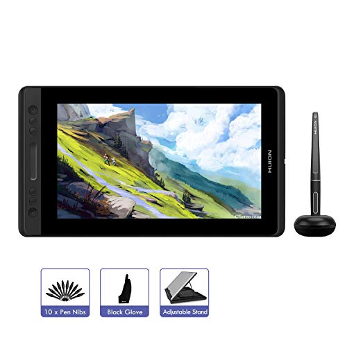 HUION KAMVAS Pro 12 Drawing Tablet with Screen 11.6inch Graphics Tablet with Tilt Function Battery-Free Stylus 8192 Pressure Sensitivity Digital Drawing Monitor for Windows Mac (GT-116)