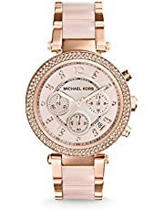 Michael Kors Women's MK5896 Parker Analog Quartz Two Tone Watch