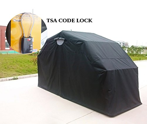 Quictent Heavy Duty Motorcycle Shelter Shed Tourer Cover Storage Garage Tent with TSA Code Lock & Carry Bag (Small/Large Size) by Quictent