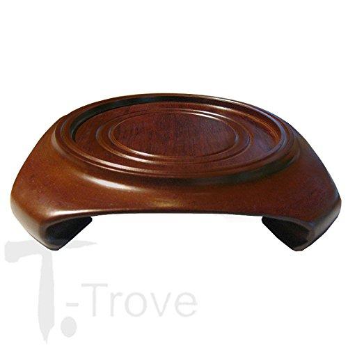 T-Trove Black or Walnut Wood Vase Stand/Urn Base 2