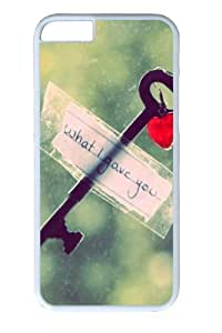 Heart key Custom iphone 6 plus 5.5 inch Case Cover Polycarbonate White