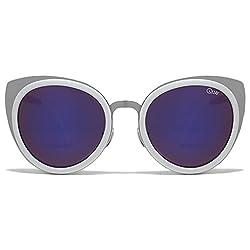 Quay Girly Talk Sunglasses Cat Eye Nickel Free Metal Frame Stainless Steel Hinge