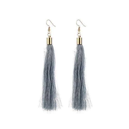 MJW&EH Femme 1 Boucles d'oreille gitane , Gland Plaqué or Forme de Tube Bijoux Cadeau Quotidien Bijoux de fantaisie , one size