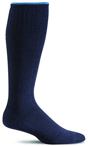 Sockwell Women's Circulator Graduated Compression Socks, Medium/Large(8-11), Navy Solid