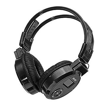 SH-S1 - Auriculares de Diadema inalámbricos con Pantalla LCD, Plegables, compatibles con Radio FM, Tarjeta TF, Reproductor de música MP3 Plata: Amazon.es: ...