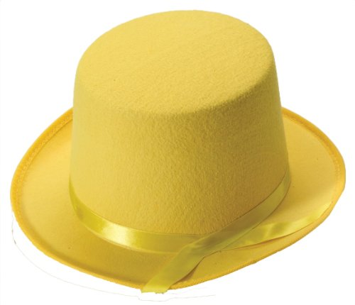 Forum Novelties Men's Deluxe Adult Novelty Top Hat, Yellow, One Size (Adult Novelty Hats)