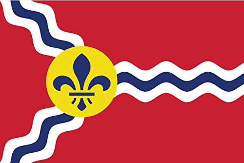 (2-Pack Saint Louis City Flag Decal Sticker | 5-Inches By 3-Inches | Premium Quality Vinyl |)