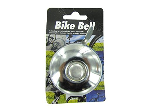K&A Company Bell Bike Metal Bicycle Ring Handlebar Horn Alarm Sound Cycling Safety Sport Case of 48