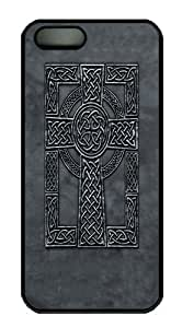 2015 popular Celtic Cross PC Case Cover for iPhone 5 and iPhone 5s Black