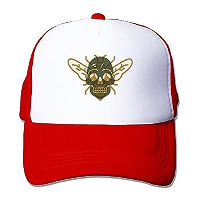 Huishe1 Bee Bones Adjustable Snapback Baseball Cap Mesh Trucker Hat by Huishe1