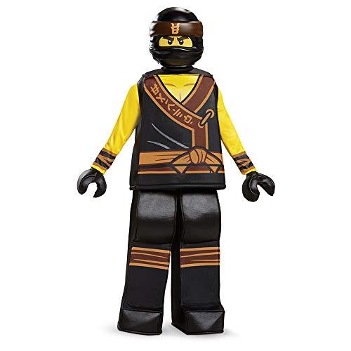Disguise Cole Lego Ninjago Movie Prestige Costume, Yellow/Black, Small (4-6) ()