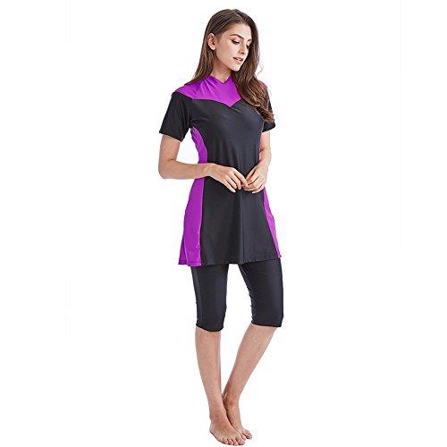 Tumon Bay Womens Modest Swimsuits 2 Pieces Muslim Swimwear Burkini Surfing Suit (Asia L-US Size 6-8, ()