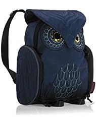 Darlings Owl Water Resistant Lightweight Backpack - Small - Navy Blue