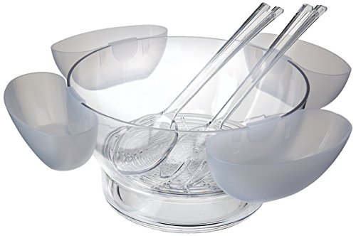 Prodyne AB-4 Orbit Bowl On Ice with 4 Side Servers by Prodyne