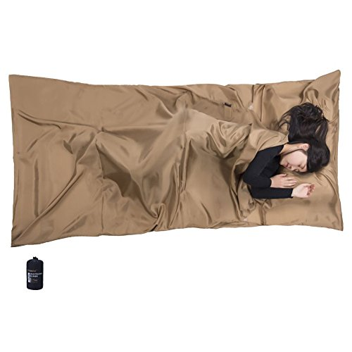 Browint Silk Sleeping Bag Liner, Silk Sleep Sack, Extra Wide 87