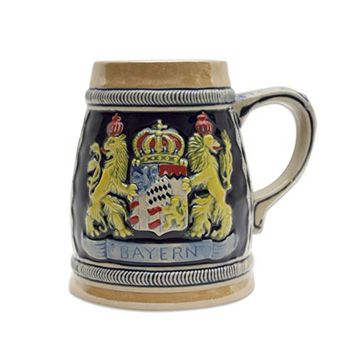 Beer Stein German Bayern Coat of Arms Engraved Beer Mug by E.H.G | .75 Liter