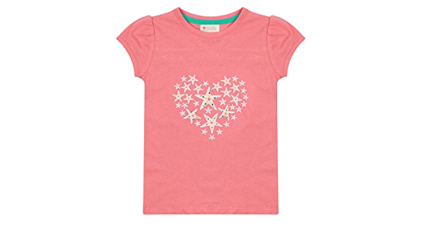 Piccalilly Camiseta de coral para niñas con diseño de ...