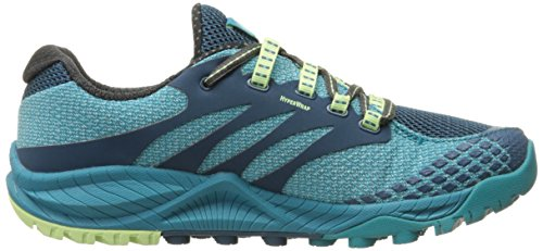 Merrell All Out Charge, Damen Traillaufschuhe, Blau (Algiers Blue/Adventurine), 37 EU