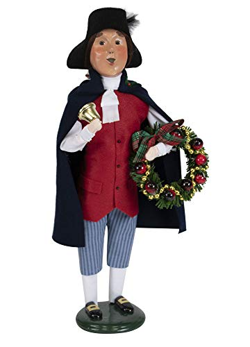Byers' Choice Colonial Woman w/Wreath Caroler Figurine from The Colonial Williamsburg Collection #5196 (New 2019) (Williamsburg Christmas Wreaths)