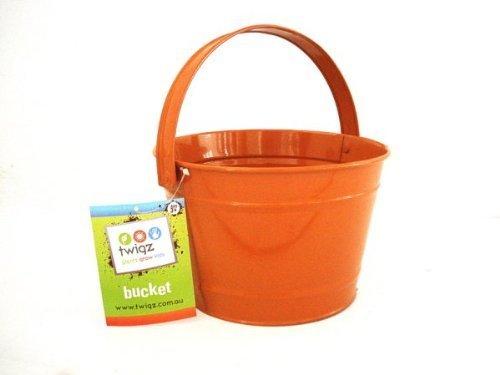 Twigz Kids Gardening Bucket - Steel - Orange