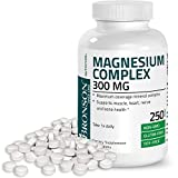 Bronson Magnesium Complex Maximum Coverage 300 Mg Magnesium Oxide Magnesium Citrate Magnesium Carbonate, Non-GMO, Gluten Free and Soy Free Formula, 250 Tablets