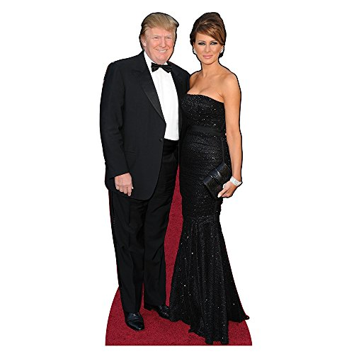 Melania and Donald Trump Formal Cardboard Cutout Standup