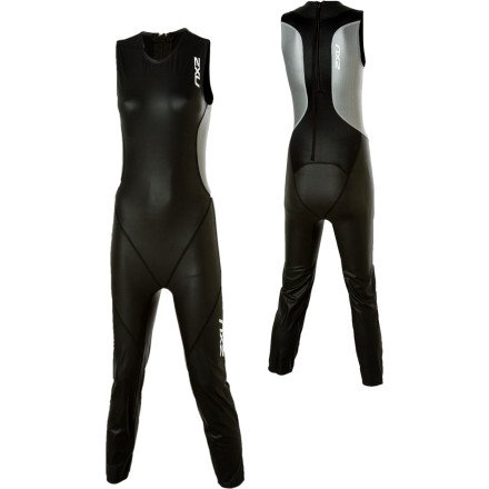Image of 2XU Elite LD Swim Skin - Women's Black/Silver, M Triathlon