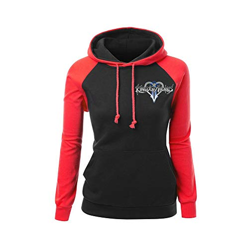 Patchwork Black Manches Hoodies Femmes Concis Longues Hearts Red02 Pull over Kingdom Pull Aivosen Hommes Unisex qvngw8OF