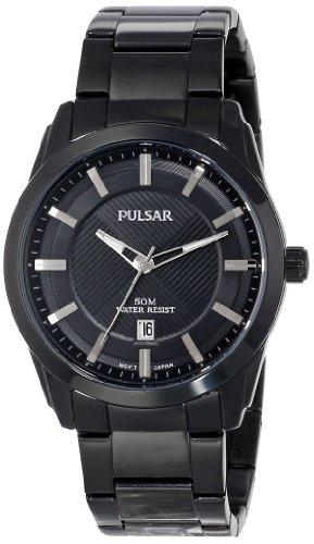 (Pulsar Men's PH9017 Analog Display Japanese Quartz Black Watch)