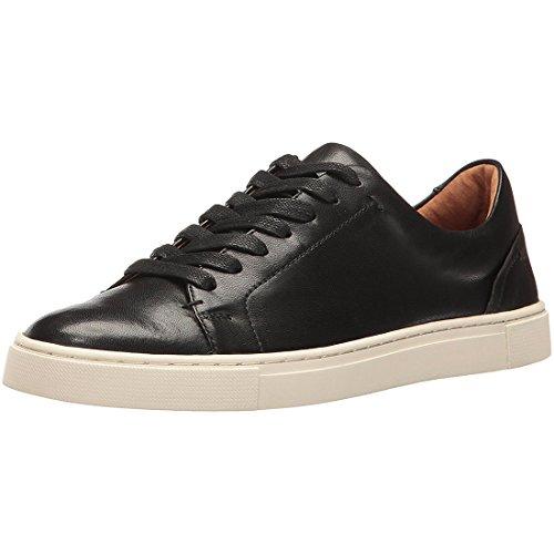 FRYE Women's Ivy Low LACE Fashion Sneaker, Black Soft Nappa Lamb, 7.5 M ()
