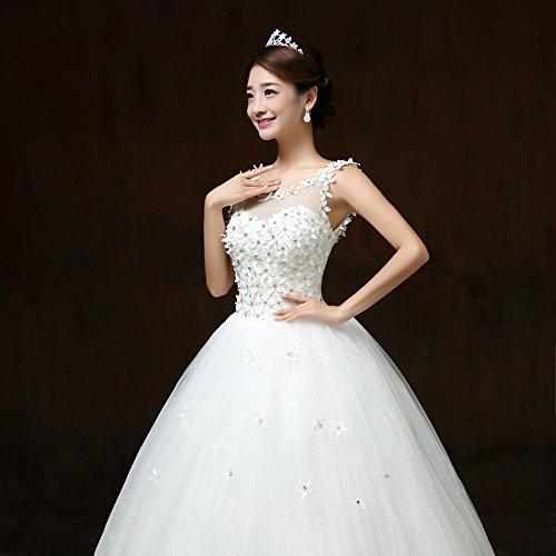 Viktion Damen Lang Hochzeitkleid Hochzeitskleider Brautkleider ...