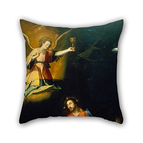 [Uloveme Oil Painting Baltasar De Echave Orio - The Prayer In The Garden Throw Pillow Covers 16 X 16 Inches / 40 By 40 Cm For Outdoor,deck Chair,pub,office,seat,teens Boys With Two] (City Mouse Costume)
