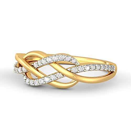 14 K Or jaune, 0.17 CT TW Diamant Blanc (IJ | SI) en diamant