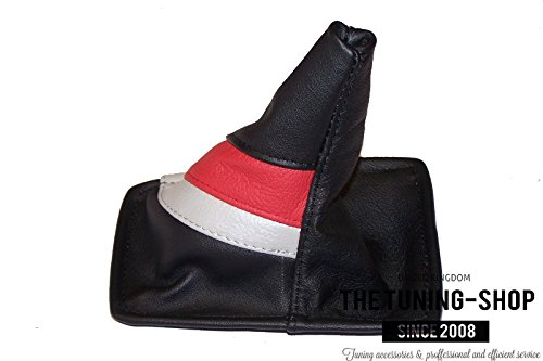 For Toyota Celica 1990-93 Shift Boot Black Genuine Leather TRD Stripes