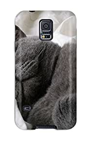 Galaxy S5 CxEaHpX9562YUhOt Fat Cat Asleep Tpu Silicone Gel Case Cover. Fits Galaxy S5