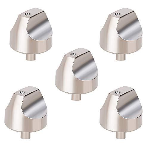 WB03X32194 WB03T10329 Cooktop Burner Knob for GE Cafe Series Gas Range. Stainless Steel Range Burner Control Knob Replace WB03T10329, WB03X25889, WB03X32194, 4920893. 5pcs