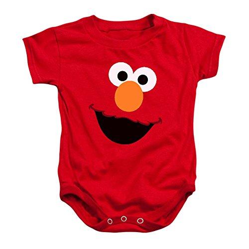 Sesame Street Elmo Face Baby Onesie Bodysuit, (18 mos)