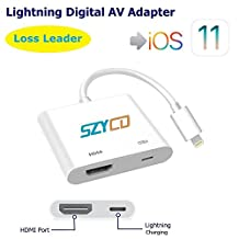 iPhone iPad to HDMI Adapter Lightning 8-pin to HDMI Female Video Digital AV Adapter with Lightning Charging Port for HD TV Monitor Projector 1080P