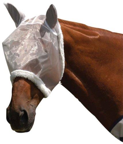 (Roma Mesh FLY Mask- White, Pony)