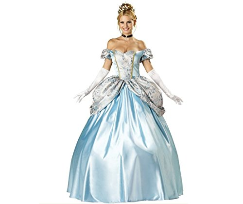 Court Sissi Snow White Halloween Party Cinderella Costume 5Pcs Set