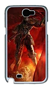 3D Angry Soldiers Custom Designer Samsung Galaxy Note 2/Note II / N7100 Case Cover - Polycarbonate - White