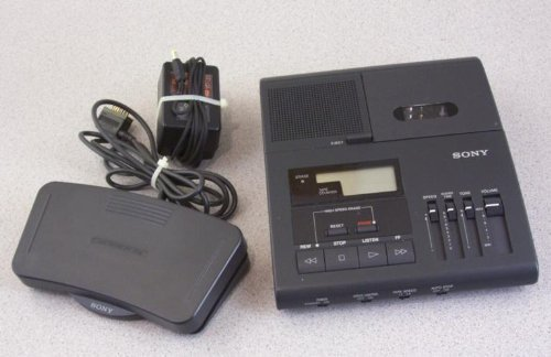 Sony Bm840 Bm-840 Microcassette Transcription Transcriber Machine 2-speeds