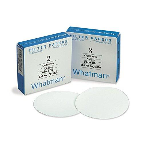 Whatman 1003110-DS Qualitative Filter Paper, Grade 3, 6 um, 11.0 cm (Pack of 100)